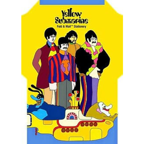 Yellow Submarine Fold and Mail Stationery