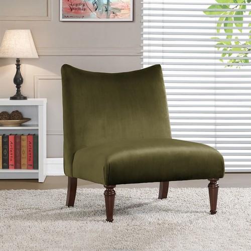 Applewood Slipper Olive Green Velvet