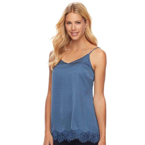 Women's SONOMA Goods for Life Satin Lace Cami