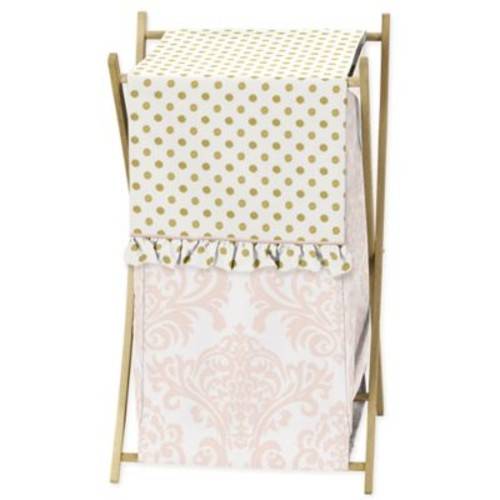 Sweet Jojo Designs Amelia Laundry Hamper in Pink/G