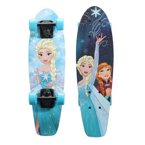 Playwheels Disney Frozen 21 in. Wood Cruiser Skateboard in Snowflake Graphic