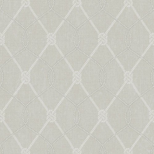 Tradewinds Grey Trellis Wallpaper from the Seaside Living Collection by Brewster Home Fashions - 2 [Quantity : 2]