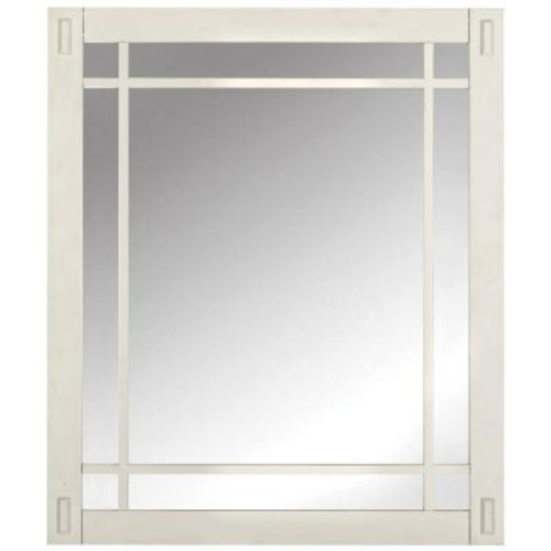 Home Decorators Collection Artisan 26 in. W x 30 in. H Framed Single Wall Mirror in White