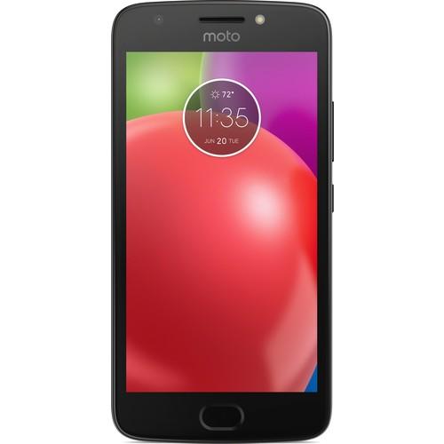 Motorola - Moto E4 4G LTE with 16GB Memory Cell Phone (Unlocked) - Licorice Black
