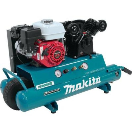 Makita 10 Gal. 5.5 HP Portable Gas-Powered Twin Stack Air Compressor