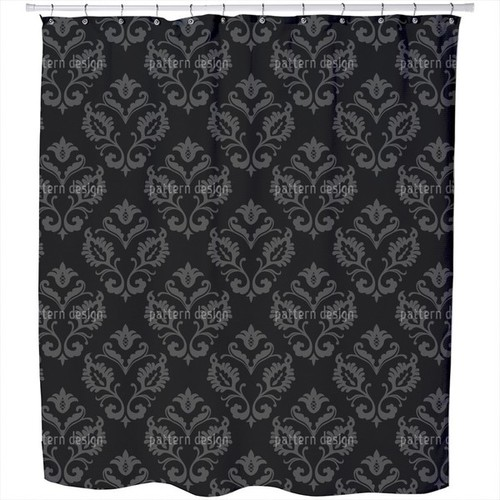 Aramis Black Shower Curtain [option : Extra Long (70 inches X 90 inches)]