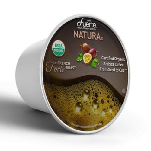 FUERTEForte, K-Cup Compatible Pod, French Roast, USDA Organic Arabica Coffee, 18/PK. (KCC-8164)