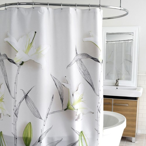 Splash Home Lillies Fabric Shower Curtain