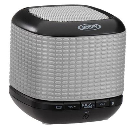 JENSEN Portable Rechargeable Bluetooth Wireless Speaker with NFC - Silver