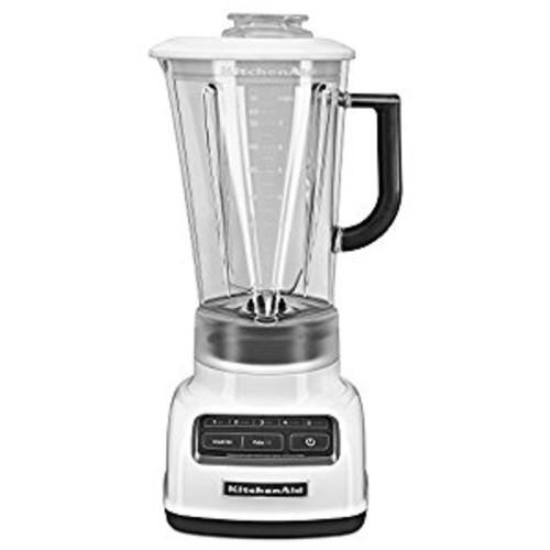 KitchenAid KSB1575WH 5-Speed Diamond Blender with 60-Ounce BPA-Free Pitcher - White [White]