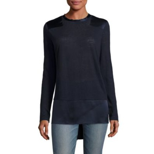 RAG & BONE Riley Patchwork Linen Top