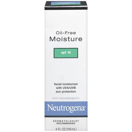 Neutrogena Moisturizer, Facial, Oil-Free, Moisture, 4 fl oz (118 ml)