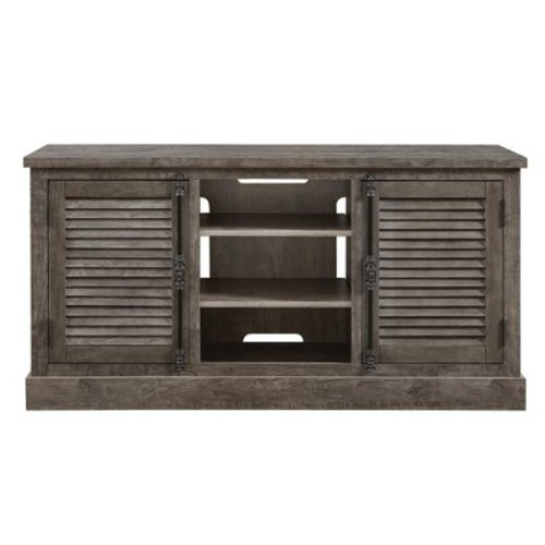 Ameriwood Sienna Park Rustic Gray TV Console for TVs up to 65 in. Wide