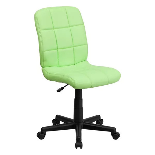 Offex Mid-Back Green Quilted Vinyl Task Chair [OF-GO-1691-1-GREEN-GG]