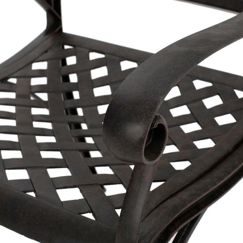 Alfresco Outdoor Cast Aluminum Dining Chair Chair (Set of 2) by Christopher Knight Home