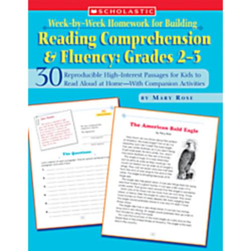Scholastic Week-by-Week Homework For Building Reading Comprehension & Fluency  Grades 2-3