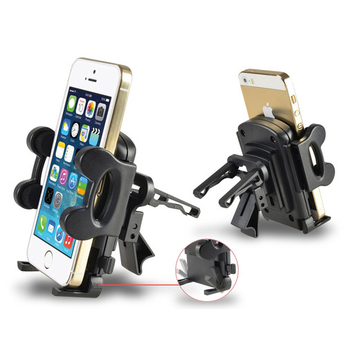 Insten 357704 Universal Magnetic Car Mount Air Vent Phone Holder For Samsung Galaxy S6 Edge HTC iPhone LG Smartphones Up to 4.3 Inches, Black