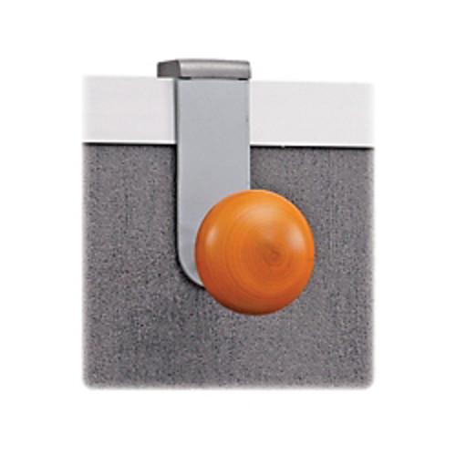 Alba Cubicle Single Garment Peg - 1 Pegs - for Garment - Silver, Brown - 1 Each