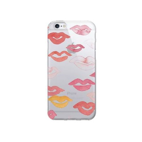 OTM Prints Clear Phone Case, All Over Lips - iPhone 6/6S Plus