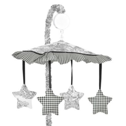 Sweet Jojo Designs French Toile Musical Mobile in Black/Cream