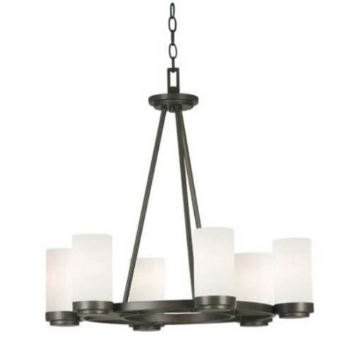 Kenroy Home Toronto 6-Light Chandelier in Bronze