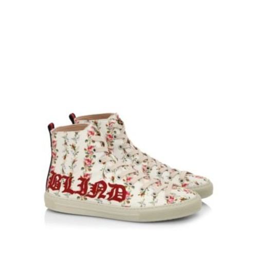 GUCCI Major Romantic-Print High-Top Sneakers