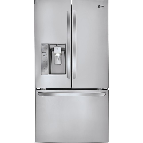 LG - 28.8 Cu. Ft. French Door Refrigerator with Thru-the-Door Ice and Water - Stainless steel