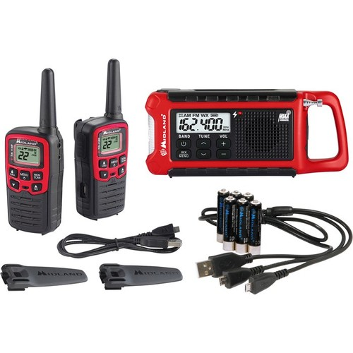 Midland ER210 E+Ready Emergency Crank Radio  26-Mile Range, 2-Pk.