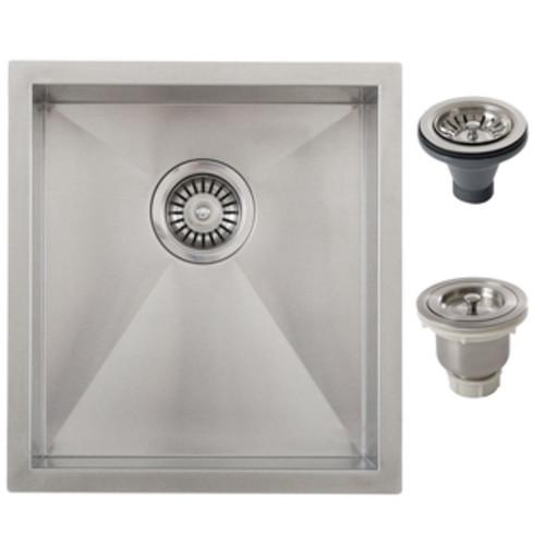 Ticor 14-inch Single Bowl Stainless Steel Undermount Bar Sink