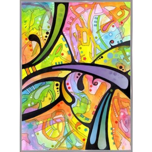 East Urban Home 'Abstract' Graphic Art Print; White Metal Framed