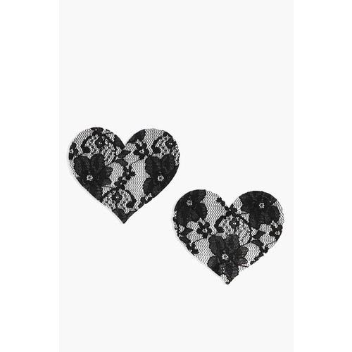 Black Lace Heart Nipple Covers
