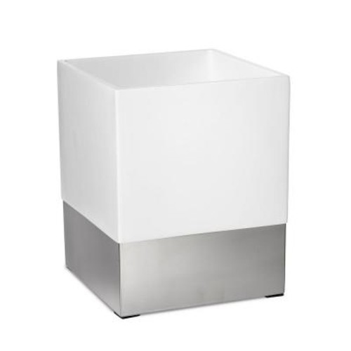 Roselli Trading Company Suites 10 in. Wastebasket in Resin and Stainless Steel