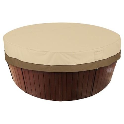 Classic Accessories Veranda Round Spa and Hot Tub Storage Cover, Pebble