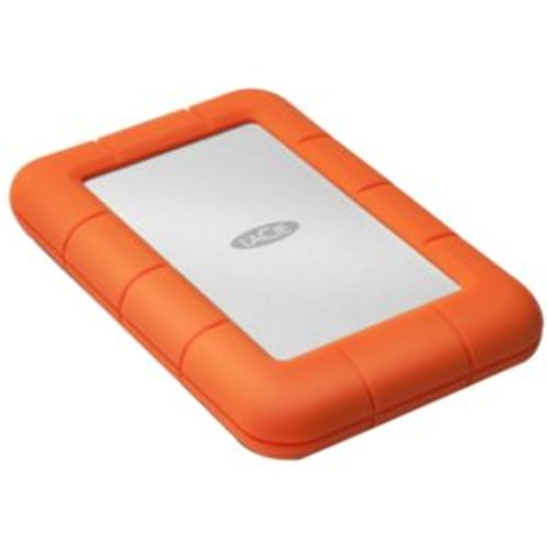 LaCie Rugged 4TB External Mini Hard Drive - 4TB Capacity, Portable, USB 3.0, 5400 RPM Spindle Speed, Password Protection, Shock & Pressure Resistant - LAC9000633