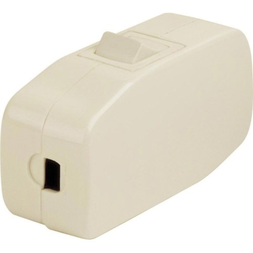 Leviton Feed-Through Cord Switch Single Pole Feed Thru On/Off 3 Amp 125 volts Ivory CSA Bagged(05410