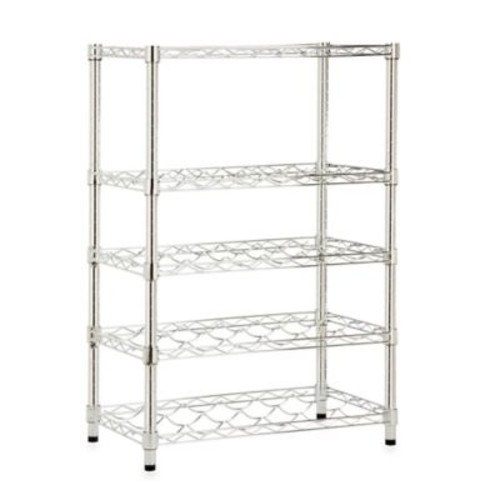Honey-Can-Do Steel 4-Tier Wine Rack in Chrome