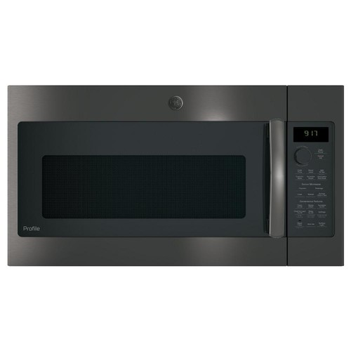 GE Profile 1.7 cu. ft. Over the Range Convection Microwave in Black Stainless Steel, Fingerprint Resistant