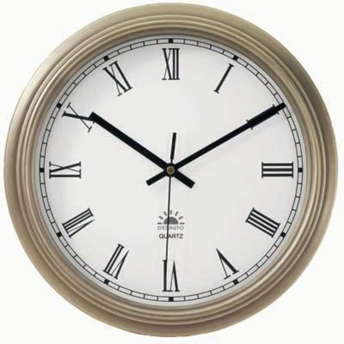 Alcott Hill 12.5'' Bronze Metal Wall Clock