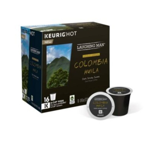 Keurig Laughing Man Colombia Huila Dark Roast Coffee 16-Pk. K-Cup