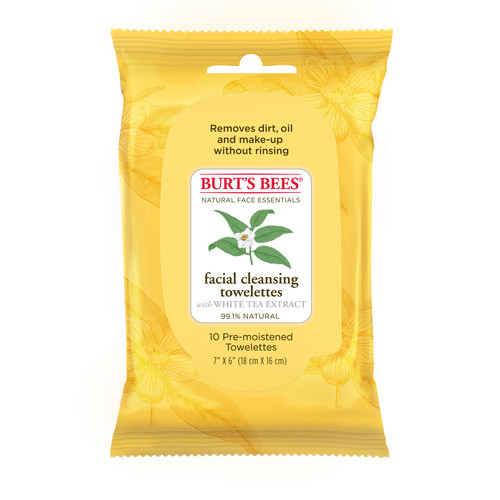 Burt's Bees Facial Cleansing Towelettes - White Tea, 10 count