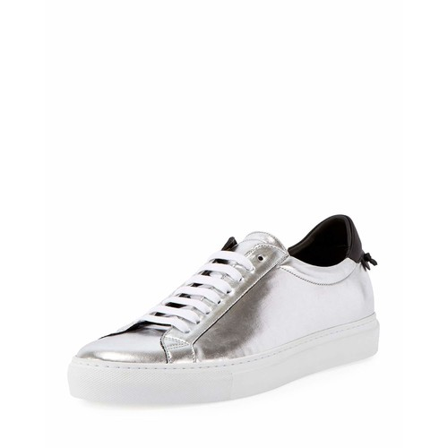 GIVENCHY Urban Street Metallic Low-Top Sneaker, Silver