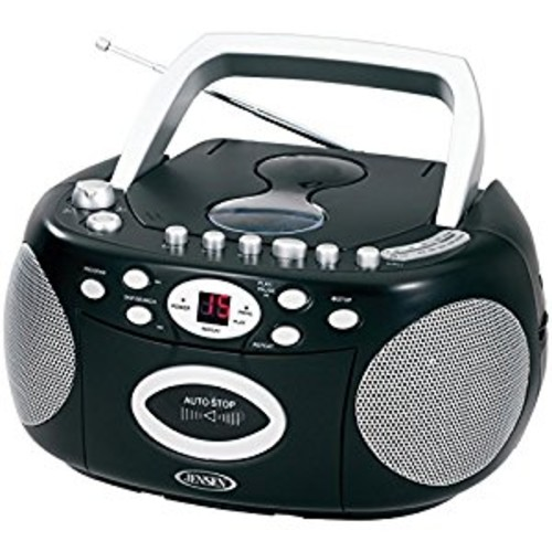 Jensen CD540 Portable Stereo Compact Disc Cassette Recorder with AM/FM Radio