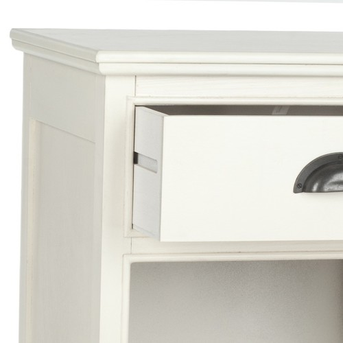 Safavieh Coffee, Console, Sofa & End Tables Safavieh Griffin White Storage Side Table