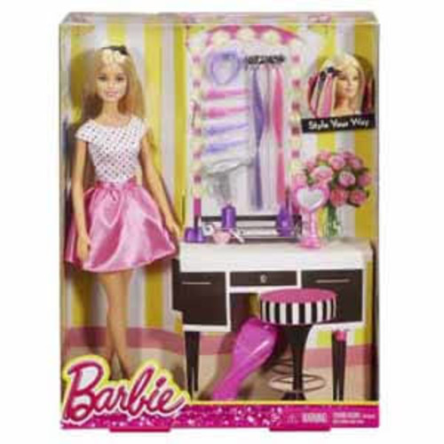 Mattel Barbie Style Your Way Doll & Playset