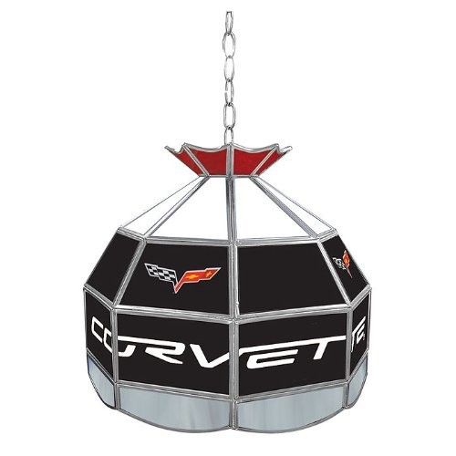 Corvette C6 Stained Glass Tiffany Lamp - 16 inch diameter Corvette C6 Stained Glass Tiffany Lamp -