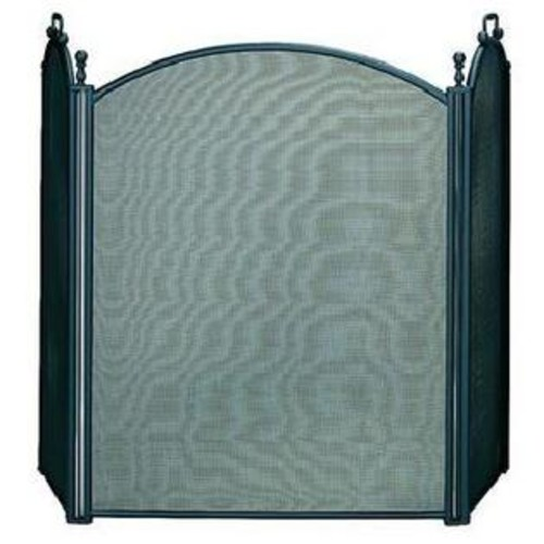 UniFlame 3 Fold Large Diameter Black Screen W/ Woven Mesh