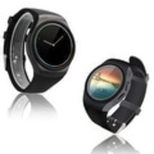 Indigi A18 SmartWatch & Phone - Bluetooth 4.0 Sync + Pedometer + Accurate Heart Rate Sensor + Notification Sync - Black