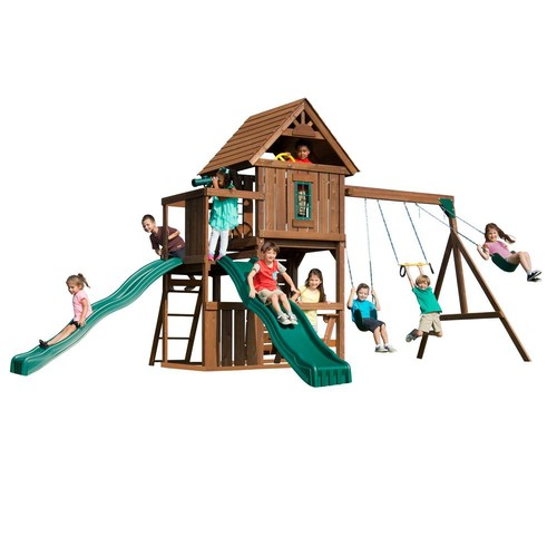Swing-N-Slide Playsets Monteagle Wood Complete Playset
