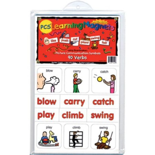 Barker Creek - Office Products Learning Magnets, 90 Pieces Verbs (LM-3000)