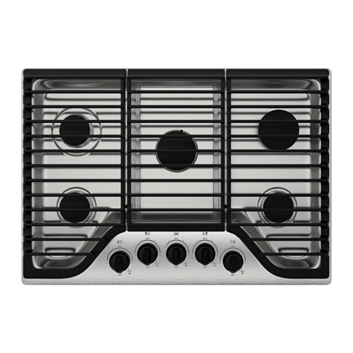 FRAMTID 5 burner gas cooktop, Stainless steel